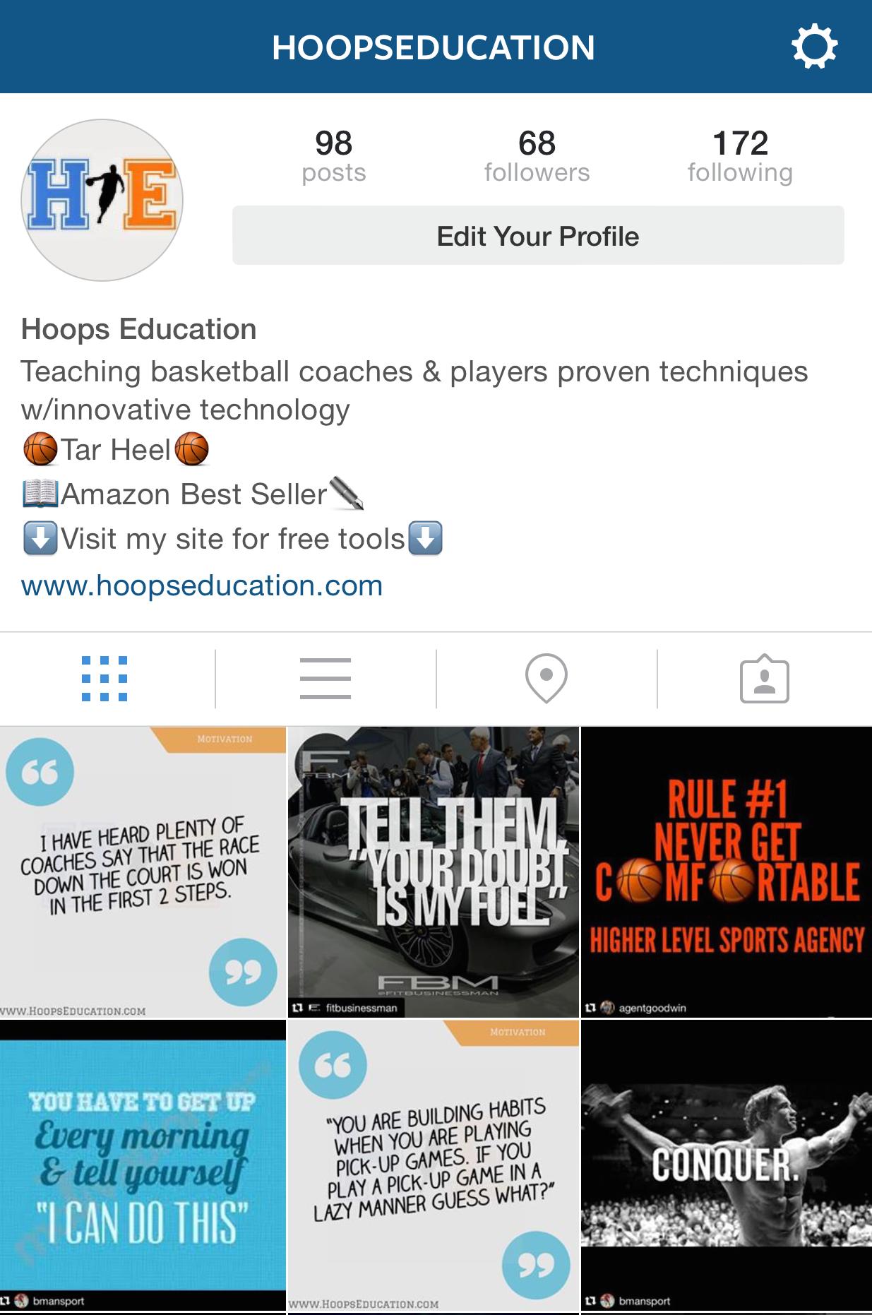 Hoops Education Instagram Profile